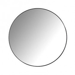 Oglinda rotunda neagra din fier si MDF pentru perete 60 cm Jazzey Richmond Interiors