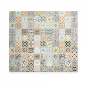 Panou antistropire multicolor din sticla pentru perete 50x56 cm Mosaic Zeller
