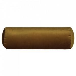 Perna decorativa rotunda galbena din catifea 20x61 cm Spool Be Pure Home