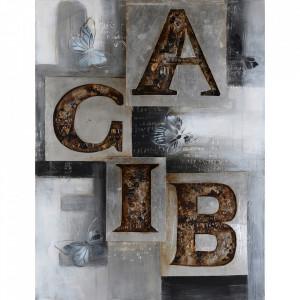 Tablou multicolor din canvas si lemn 90x120 cm Acib Ter Halle