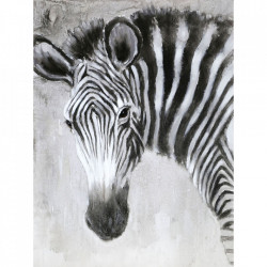 Tablou multicolor din canvas si lemn 90x120 cm Zebra Ter Halle