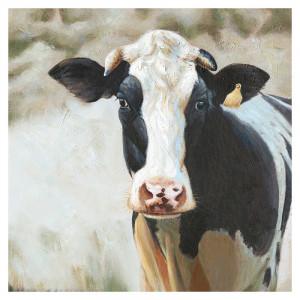 Tablou multicolor din canvas si lemn 90x90 cm Bessie Ter Halle