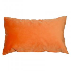 Perna decorativa dreptunghiulara portocalie din catifea 30x50 cm Velia Santiago Pons