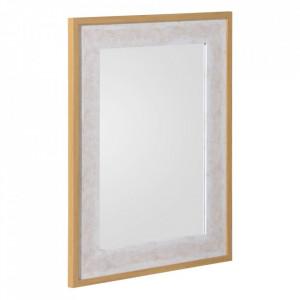 Oglinda dreptunghiulara alb/gri din MDF 58x68 cm Jemini Ixia