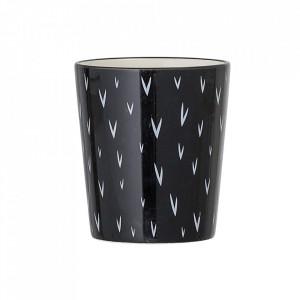 Cana neagra din ceramica 7,5x9cm cm Birds Bloomingville