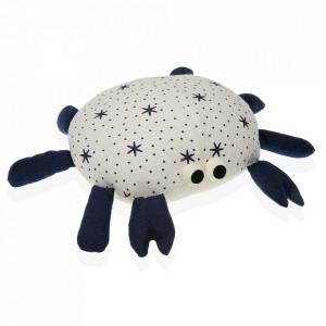 Opritor usa alb/albastru din textil Crab Versa Home