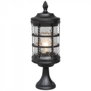 Stalp de iluminat negru din metal si sticla pentru exterior 55 cm Donato MW Glasberg