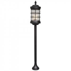Stalp de iluminat negru din metal si sticla pentru exterior 117 cm Donato MW Glasberg