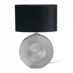 Veioza negru/argintiu din ceramica si catifea 60 cm Anda Ixia