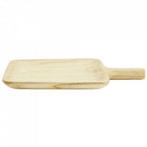 Platou maro din lemn de paulownia Corint Square Madam Stoltz