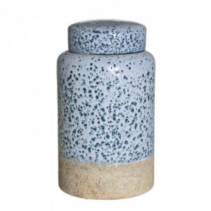 Recipient albastru din ceramica cu capac 15x26 cm Etjo Ixia
