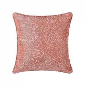 Perna decorativa patrata portocalie din poliester 45x45 cm Loving Unimasa