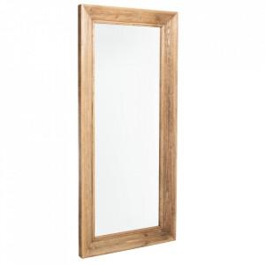 Oglinda dreptunghiulara maro din lemn de brad si MDF 84,5x189 cm Idah Ixia