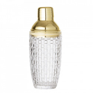 Shaker transparent/auriu din sticla si inox 385 ml Alessia Bloomingville