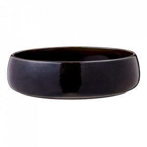 Bol negru din ceramica 23 cm Bordo Bolia