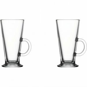 Set 2 pahare transparente din sticla 260 ml Colombian