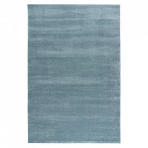 Covor albastru din polipropilena si iuta Jive Obsession (diverse dimensiuni)