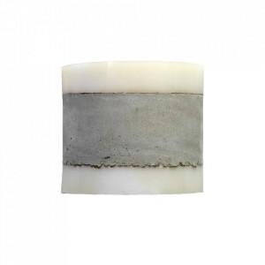 Aplica gri din beton cu LED Yvo Serax