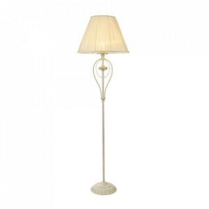Lampadar ivoriu din metal si organza 160 cm Olivia Maytoni