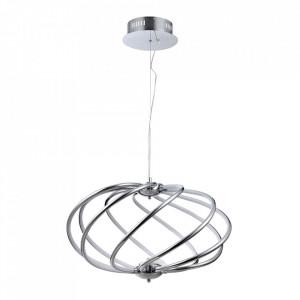 Lustra argintie din metal cu LED Venus Line Maytoni