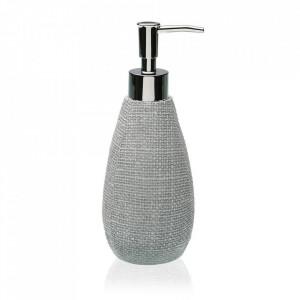 Dispenser sapun lichid gri din rasina 8x21,5 cm Kay Versa Home