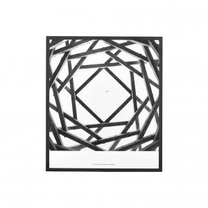 Tablou negru/alb din sticla si metal 37x32 cm Prospections House Doctor