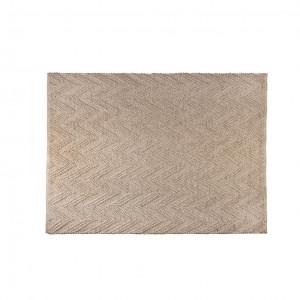 Covor crem din lana 240x170 cm Punja Marled Zuiver