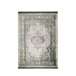 Covor verde din bumbac si poliester 170x240 cm Marvel Moss Zuiver