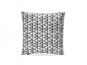 Fata de perna alb/negru din bumbac 50x50 cm Triangles Mumla
