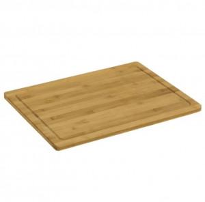 Tocator dreptunghiular maro din lemn de bambus 35x45 cm Ale Kelly Unimasa