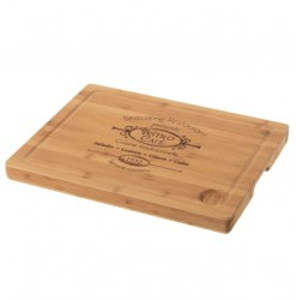 Tocator dreptunghiular maro din lemn de bambus 30x40 cm Bistro Iri Unimasa