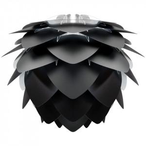 Abajur negru din polipropilena si policarbonat Silvia Medium Umage