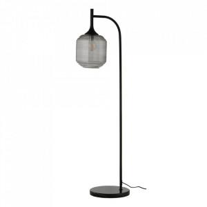 Abajur pentru lampadar gri fum din sticla Honey Frandsen Lighting