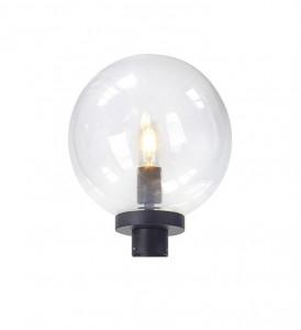 Abajur transparent/negru din plastic si aluminiu pentru stalp de iluminat Sphere Head Markslojd