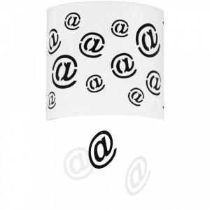 Aplica alba/neagra din metal si plastic Mail Wall Aldex