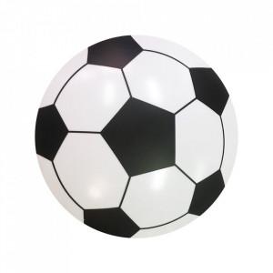 Aplica alba/neagra din plastic si metal Football Milagro Lighting