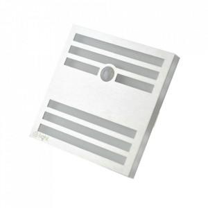 Aplica argintie/alba din aluminiu si plastic Owen M Milagro Lighting