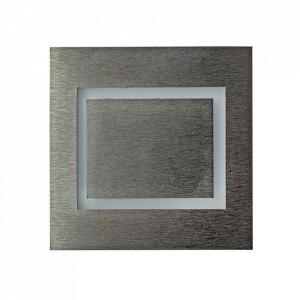 Aplica argintie din aluminiu si plastic Evra L Milagro Lighting