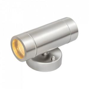 Aplica argintie din metal cu 2 becuri pentru exterior Mercury MW Glasberg