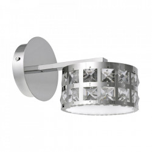 Aplica argintie din metal si sticla Alex Milagro Lighting