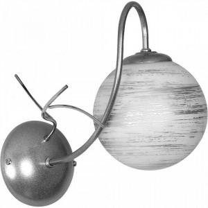 Aplica argintie din metal si sticla Romance Wall Aldex