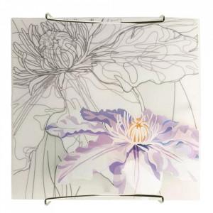 Aplica multicolora din sticla si otel Spring Violet Candellux