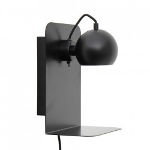 Aplica neagra din metal Ball USB Frandsen Lighting