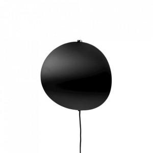 Aplica neagra din metal cu LED Callas Wall Medium Black Bolia