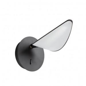 Aplica neagra din otel si aluminiu cu LED Veleira Kave Home