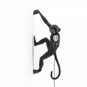 Aplica neagra din rasina The Monkey Right Seletti
