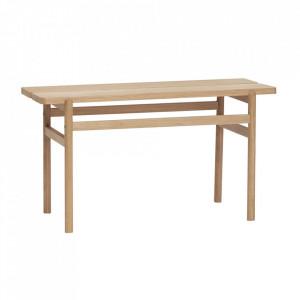 Bancheta maro din lemn 85 cm Oak Bench Hubsch