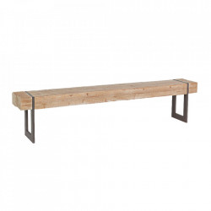 Bancheta maro din lemn de brad si otel 200 cm Garrett Bizzotto