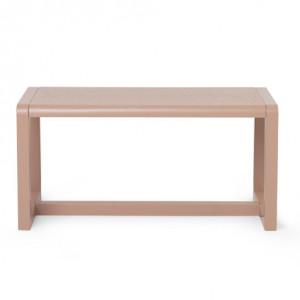 Bancheta pentru copii din lemn roz 62x30 cm Little Architect Ferm Living