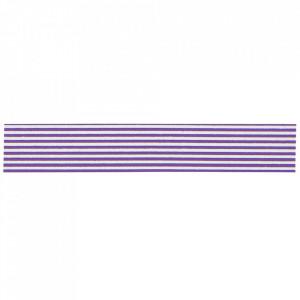 Banda adeziva alba/mov 10 m Stripes Madam Stoltz